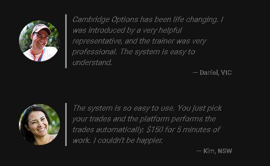 CambridgeOptions testimonials